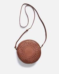 Beach Bum Round Vegan Leather Bag  L9BG10BIF8