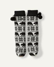 Winter Bear Socks Slipper Socks  M9SO01BIW8
