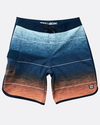 Boys' 73 Stripe Pro Boardshorts  N2BS02BIP9