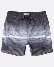 Boys' All Day Stripes Layback Boardshorts  N2LB05BIP9