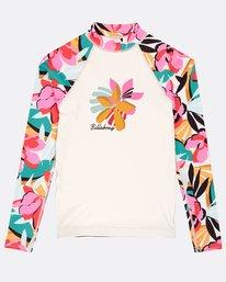 Girls' Flower Long Sleeve Rashguard  N4KY04BIP9