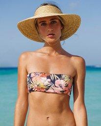 Wild Tropic Bandeau Bikini Top  P3ST14BIS9