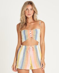 Double Rainbow High-Waisted Shorts  P3WK21BIMU
