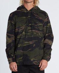 Furnace Anorak - Hooded Polar Fleece Shirt for Men  S1SH13BIP0