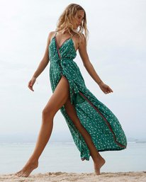Soft Seas - Printed Maxi Dress for Women  S3DR08BIP0