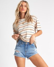Lover - Striped Pocket T-Shirt for Women  S3KT03BIP0