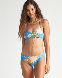 Palm Rise Mini Crop - Floral Bikini Top for Women  S3ST30BIP0