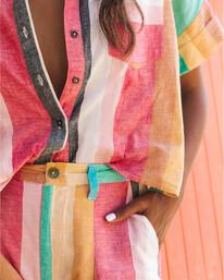 Santorini Dreams - Striped Shirt for Women  S3TP22BIP0