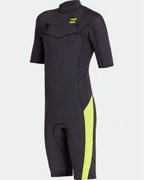 2/2mm Absolute FL - Short Sleeve Chest Zip Springsuit for Boys  S42B67BIP0
