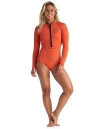 2mm Salty Dayz - Long Sleeve Springsuit for Women  S42G57BIP0