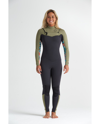 4/3mm Salty Dayz - Chest Zip Wetsuit for Women  S44G51BIP0