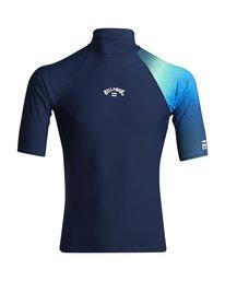 Contrast Printed - Short Sleeve UPF 50 Rash Vest for Men  S4MY06BIP0