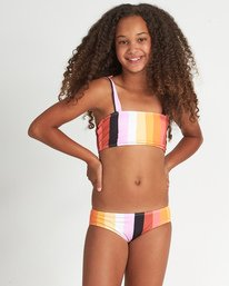 Sunset Glow St - Striped Bikini Set for Teen Girls  S8SW05BIP0