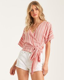 Local Shores - Wrap Top for Women  T3TP08BIS0