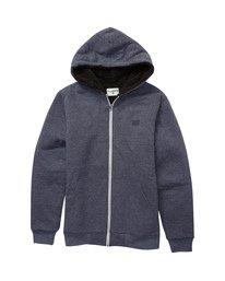 All Day Sherpa - Zip-Up Hooded Fleece for Boys  U2FL14BIF0