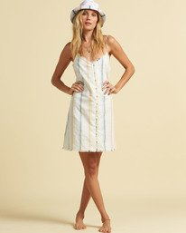 Salty Blonde Sunny Stripes  - Slip Dress for Women  U3DR31BIF0