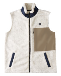 Adventure Division Canyon - Sleeveless Sherpa Body Warmer for Men  W1FL29BIP1