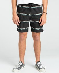 "Larry Jacquard 17.5"" - Elasticated Shorts for Men  W1WK33BIP1"