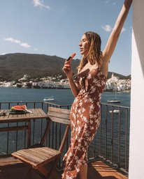 Wild At Heart - Plunge Neck Dress for Women  W3DR43BIP1