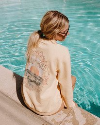 Salty Blonde After Sunset - Recycled Sweatshirt for Women  W3FL02BIP1