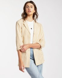 Safari Check Blazer Jacket - Blazer Jacket for Women  W3JK10BIP1