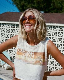 Salty Blonde Cut Off - Recycled Muscle T-Shirt for Women  W3KT03BIP1
