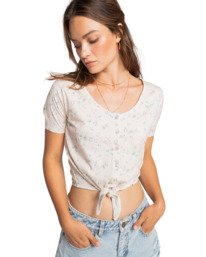 Girly - Short Sleeve Knit Top for Women  W3KT16BIP1