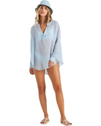 Dreaming Of You - Long Sleeve Swim Cover Up for Women  W3OS19BIP1