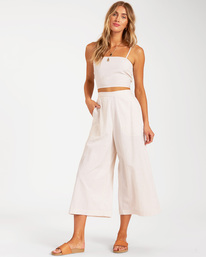 Sunset Beach - Cropped Wide Leg Trousers for Women  W3PT12BIP1
