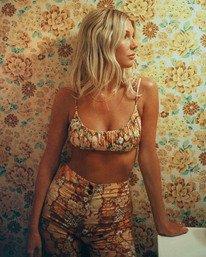 Salty Blonde Back Then Bralette - Recycled Bikini Top for Women  W3ST37BIP1