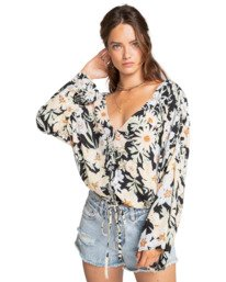 Honeymoon - Oversized Buttoned Coverup for Women  W3TP01BIP1
