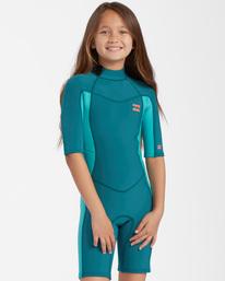 2/2mm Synergy - Short Sleeve Back Zip Springsuit for Girls  W42B60BIP1