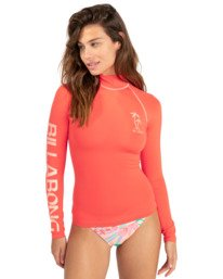 Logo - Long Sleeve UPF 50 Rash Vest for Women  W4GY50BIP1