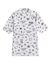 Swim - Short Sleeve UPF 50 Rash Vest for Girls 8-16  W4KY17BIP1