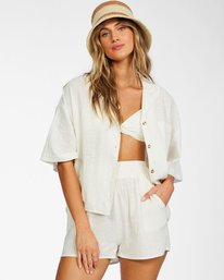 All Good - Buttoned Top for Women  X3TP06BIS1