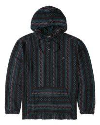 Baja - Hooded Long Sleeve Flannel for Men  Z1SH37BIF1