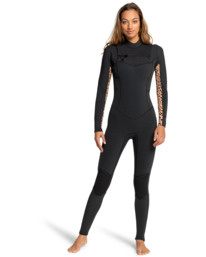 4/3mm Salty Dayz - Chest Zip Wetsuit for Women  Z44G10BIF1