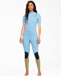 5/4mm Salty Dayz - Chest Zip Wetsuit for Women  Z45G10BIF1