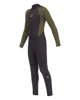 Intruder 3/2mm B Intruder Bz GBS - Back Zip Wetsuit for Boys  043B18BIP0
