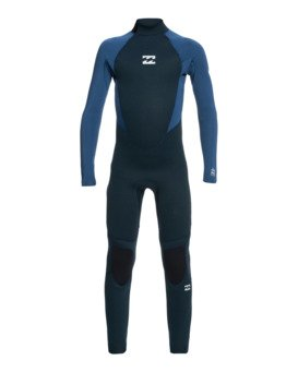 Intruder 4/3mm B Intrdr Bz GBS - Back Zip Wetsuit for Boys  044B18BIP0