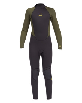 Intruder 4/3mm B Intrdr Bz GBS - Back Zip Wetsuit for Boys  044B18BIP0