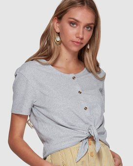 BETTY BUTTON TIE TEE  6507131