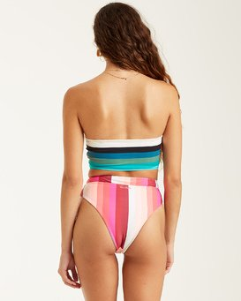 SOL STRIPES RISE BIKINI BOTTOM  6508624