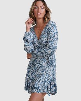 MIAMI LS WRAP DRESS  6517473