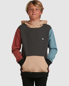 BOYS COLOUR BLOCK POP HOOD  8517617