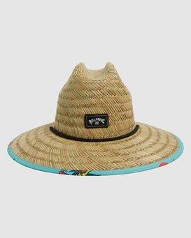 TIDES PRINT STRAW HAT  9604338