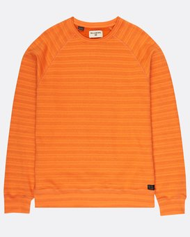 Die Cut Stripe Crew Fleece  H1FL04BIP8