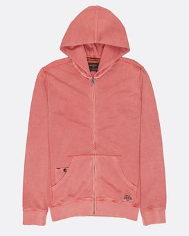 Wave Washed Zip Hood  H1FL09BIP8
