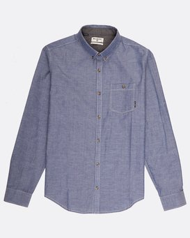 All Day Chambray Long Sleeve Shirt  H1SH12BIP8