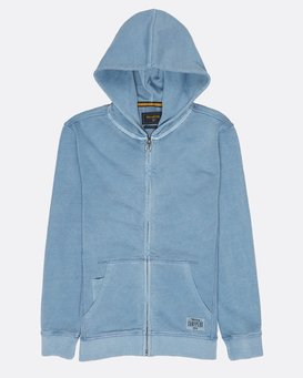 Boys Wave Washed Zip Hoodie  H2FL05BIP8